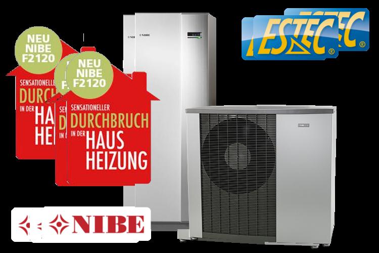 NIBE F2120 Luft-/Wasserwärmepumpe (mit Einem SCOP-Wert über 5,0)